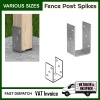 Galvanised ''U'' Shape Screwed Post Fence Ground Anchor 4mm